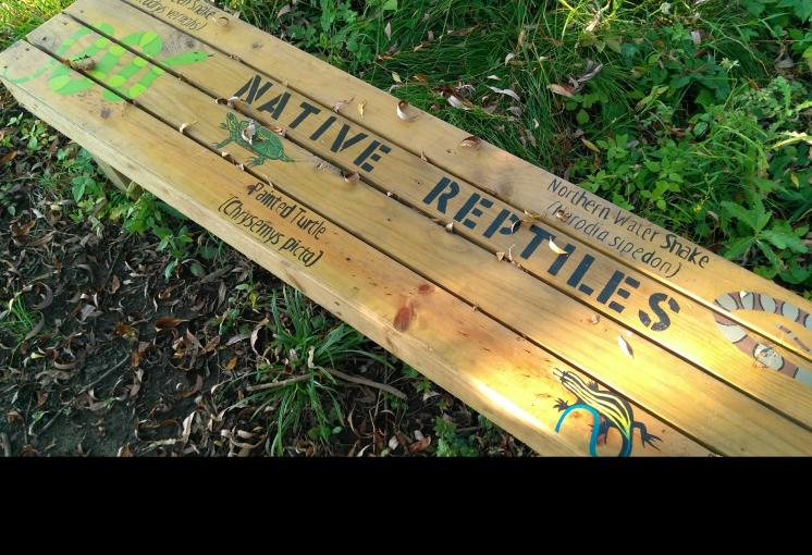 Outdoor Classroom Native Species Bench Project